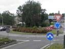 Kruhový objezd ulice Lihovarská - Čapkova - Těšínska